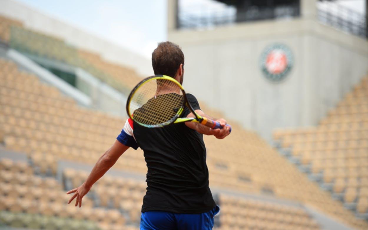 Roland-Garros 2018, Richard Gasquet, entraînement, practice