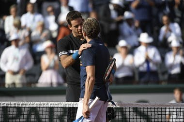 Juan Martin del Potro Julien Benneteau Roland-Garros 2018.