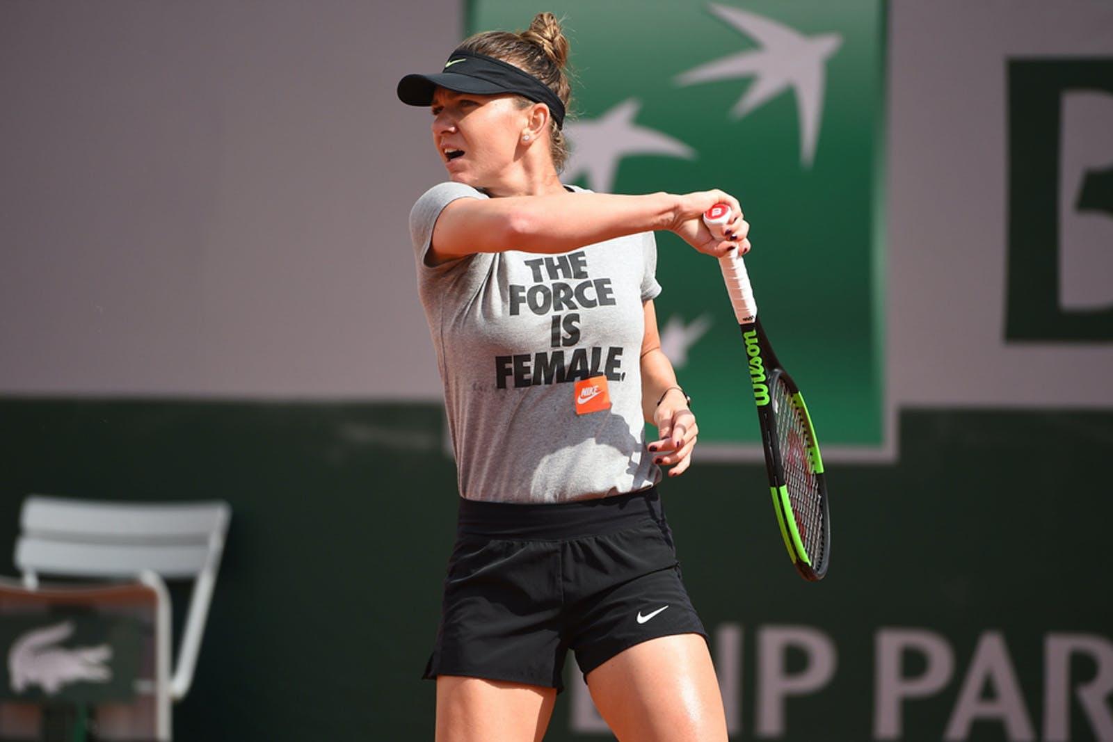 Simona Halep Roland Garros 2019 practice