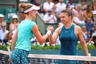 Simona Halep Alison Riske Roland-Garros 2018.