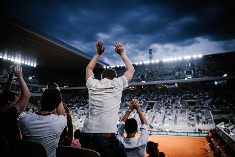 Roland-Garros Nuit Spectateurs Tribunes Sessions de soirée