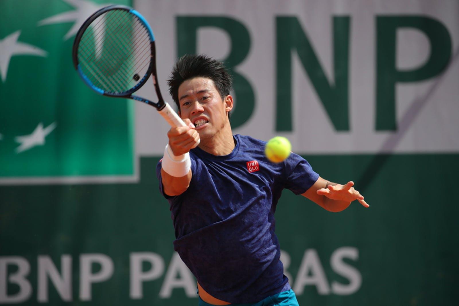 Kei Nishikori - Roland-Garros 2019 - entraînement