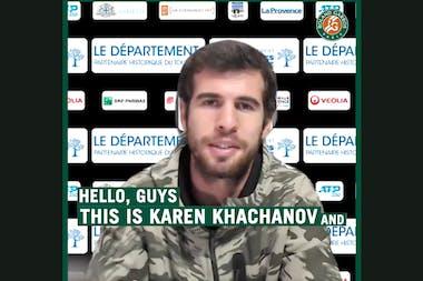 Karen Khachanov ITW