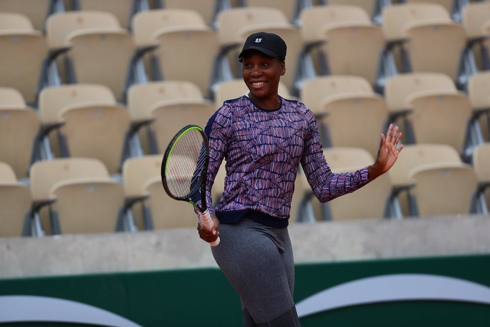 Venus Williams, Roland-Garros 2020, entraînement, jeudi 24 septembre
