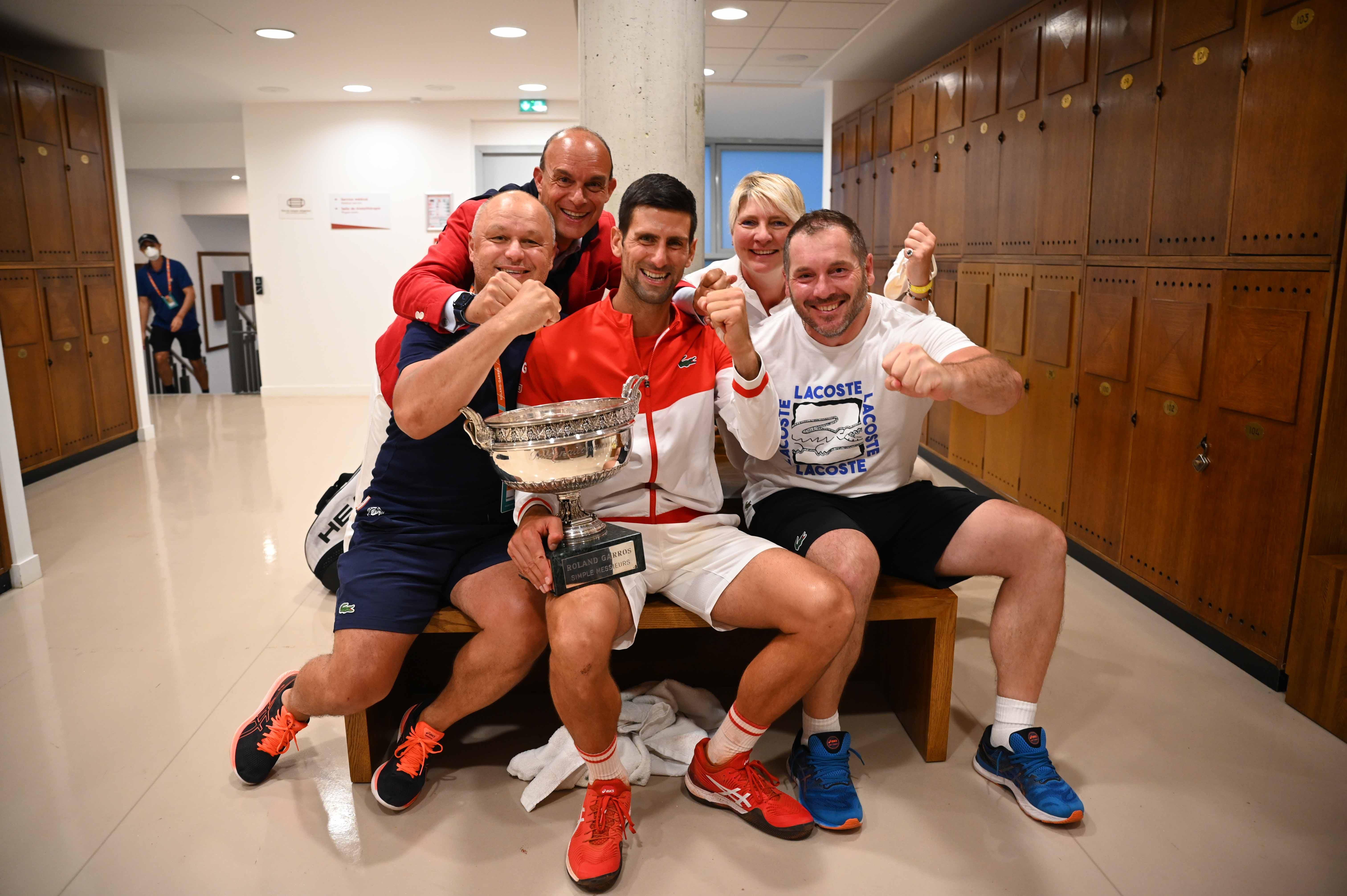 Novak Djokovic and team Roland-Garros 2021