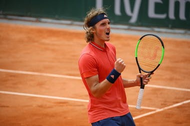 Stefanos Tsitsipas lors de Roland-Garros 2018