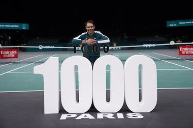 Rafael Nadal and his 1000 milestone at the Rolex Paris Masters 2000