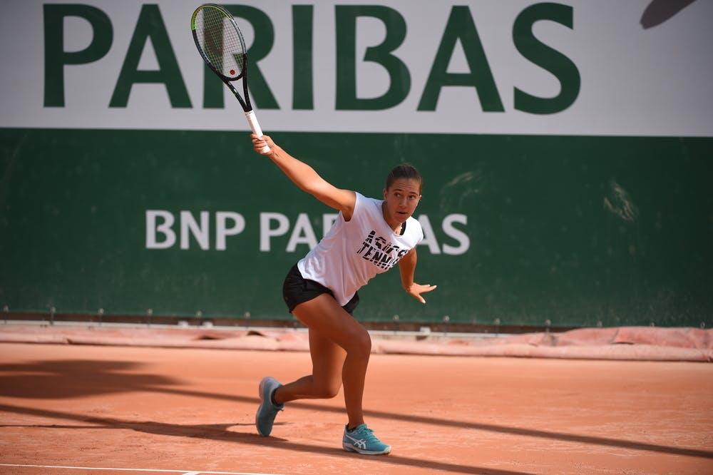 Diane Parry, Roland Garros 2020, practice