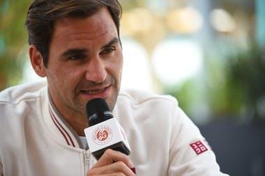 Roger Federer media day 2019