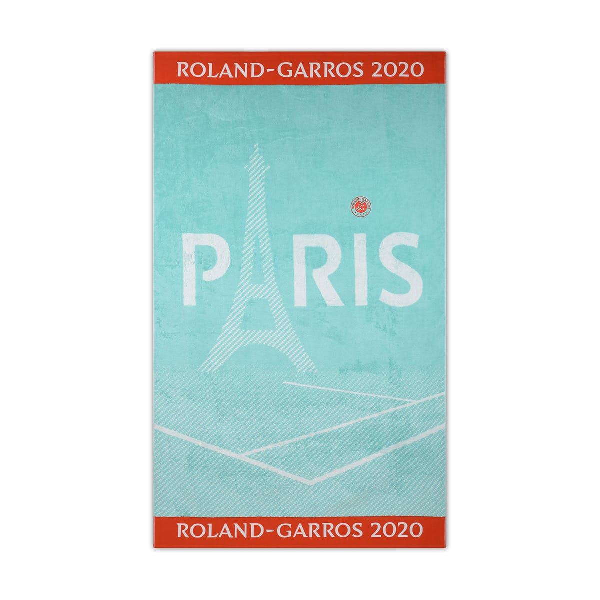 serviette officielle dame, carré blanc, roland-garros, 2020