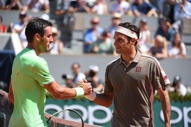 Roger Federer Leonardo Mayer Roland Garros 2019
