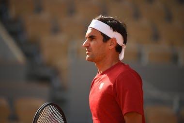 Roger Federer, practice, Roland-Garros 2021