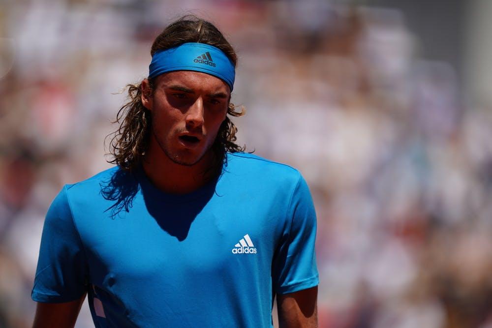 Stefanos Tsitsipas portrait during Roland-Garros 2019