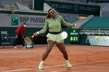 Serena Williams Roland Garros 2021 first round