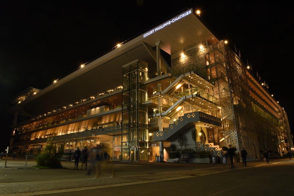 Roland-Garros 2020, Court Philppe-Chatrier, nuit