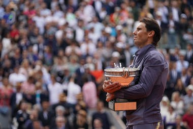 Rafael Nadal with the trophy at Roland-Garros 2019