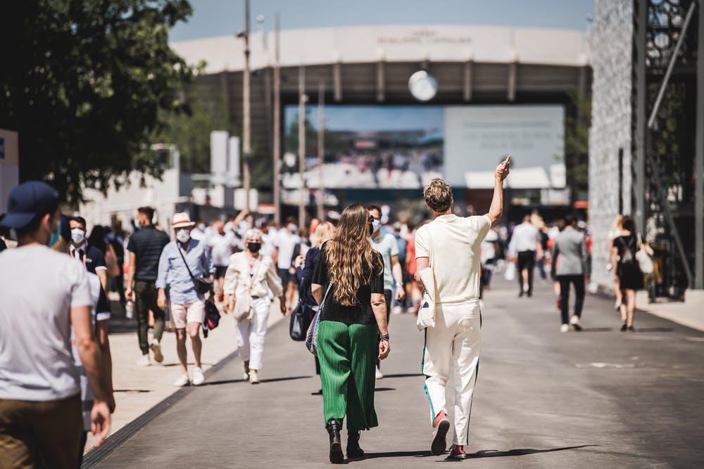 Spectateurs looks Roland-Garros