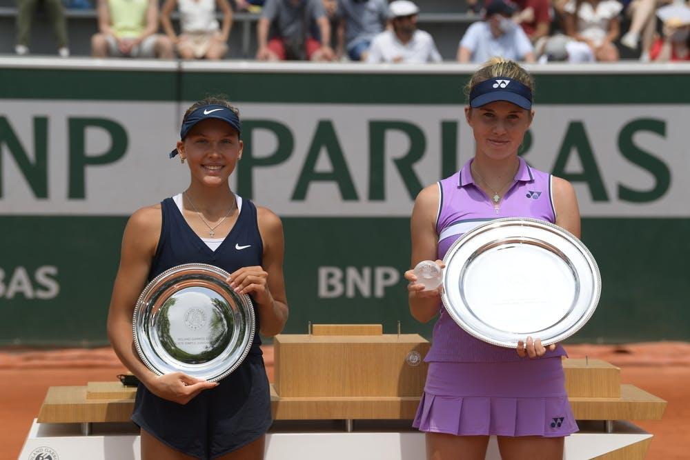 Erika Andreeva, Linda Noskova, Roland-Garros 2021, girls' singles final