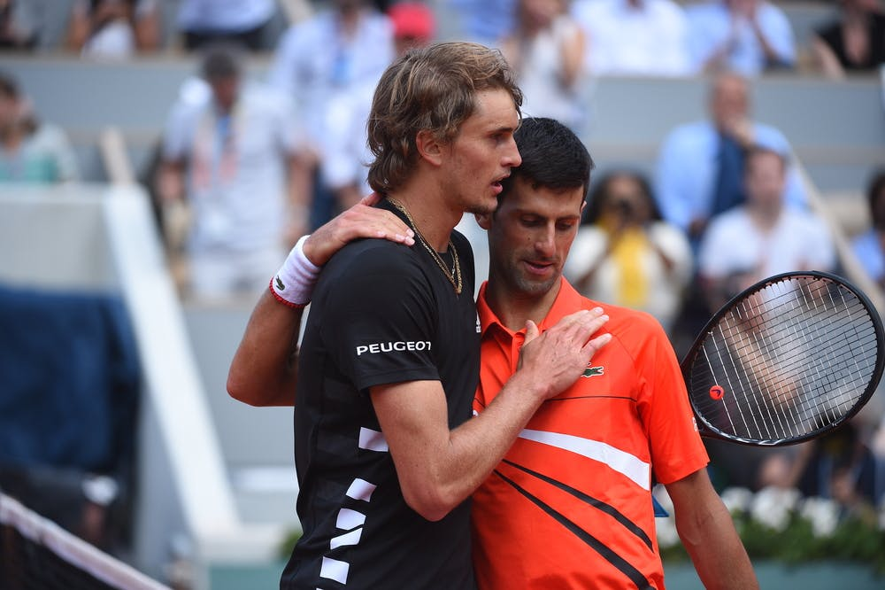 Zverev Djokovic Roland-Garros 2019