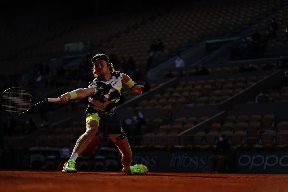 Andrey Rublev, Roland Garros 2020, quarter-finals