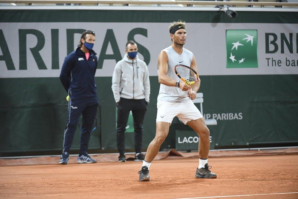 Rafael Nadal, Carlos Moya, Roland Garros 2020, practice