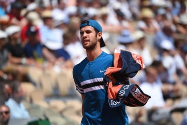 Karen Khachanov close up at Roland-Garros 2018