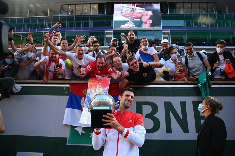 Novak Djokovic, fans, Roland Garros 2021, final