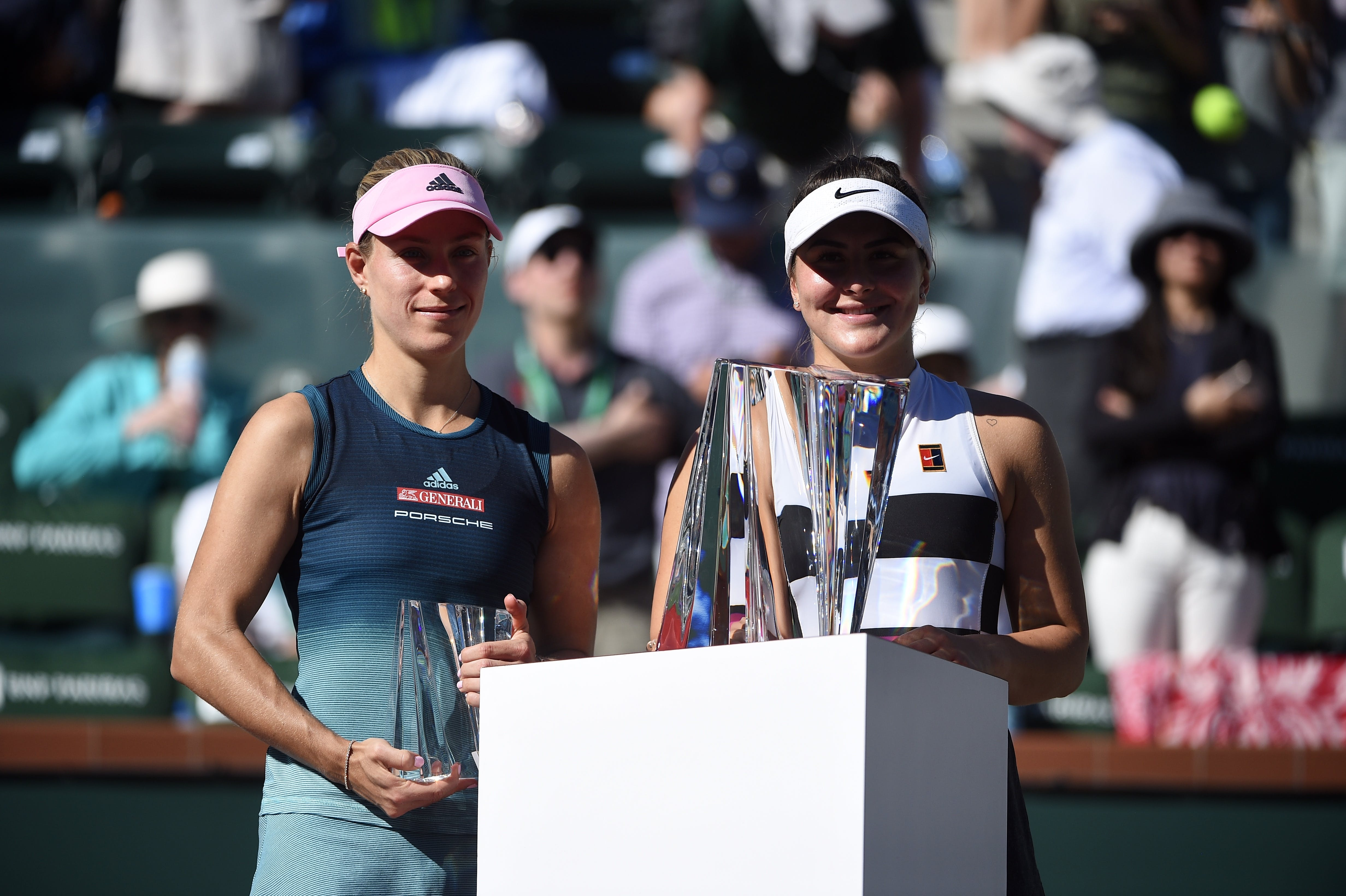 18-year-old @Bandreescu_ outlasted reigning Wimbledon champion Angelique Kerber to claim her first-ever WTA singles title at the BNP PARIBAS OPEN.