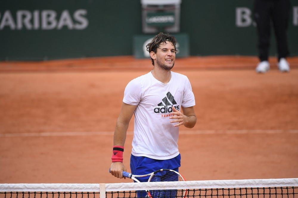 Dominic Thiem, Roland-Garros 2020, practice