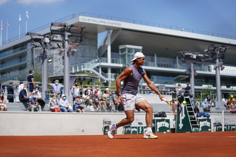 Rafael Nadal, Roland-Garros 2021, practice, day before 1/4
