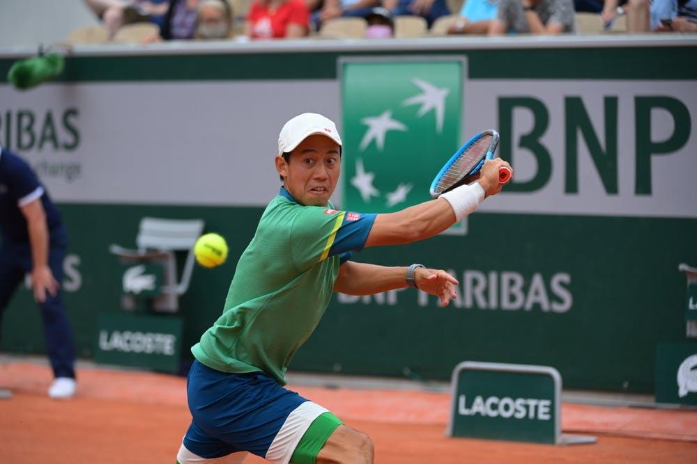 Kei Nishikori, Roland Garros 2021, third round