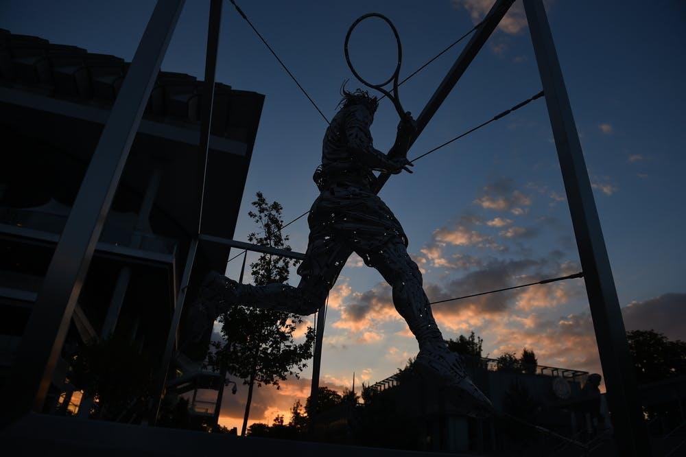 Rafael Nadal, statue, Roland-Garros 2021