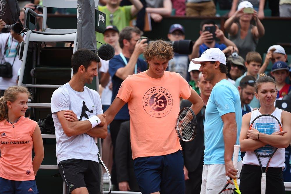 Djokovic, Zverev, Nadal Roland-Garros 2018
