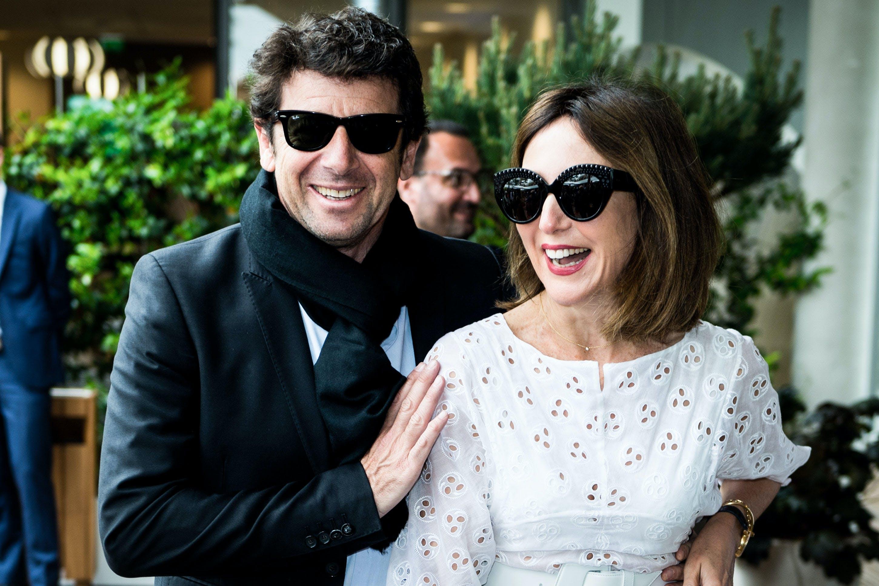 French singer Patrick Bruel and actress Elsa Zylberstein Roland-Garros 2019