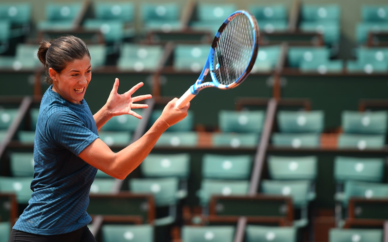Roland-Garros 2018, Garbiñe Muguruza, entraînement, practice