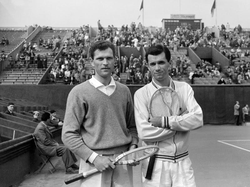 Budge Patty Mervyn Rose Roland-Garros 1955 Paris French Open