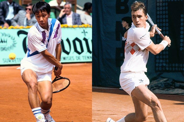 Michael Chang against Ivan Lendl