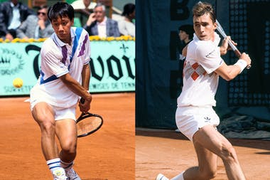 Michael Chang against Ivan Lendl
