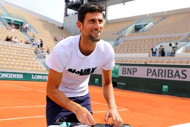 Roland-Garros 2018, Novak Djokovic, entraînement, practice