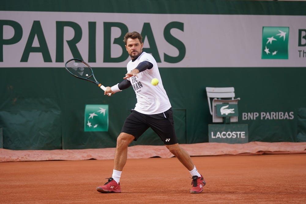 Stan Wawrinka, Roland Garros 2020, practice