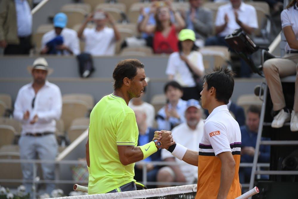Rafael Nadal et Kei Nishikori