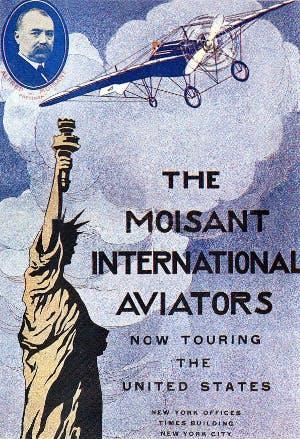 Roland Garros aviateur Moisant 1911.