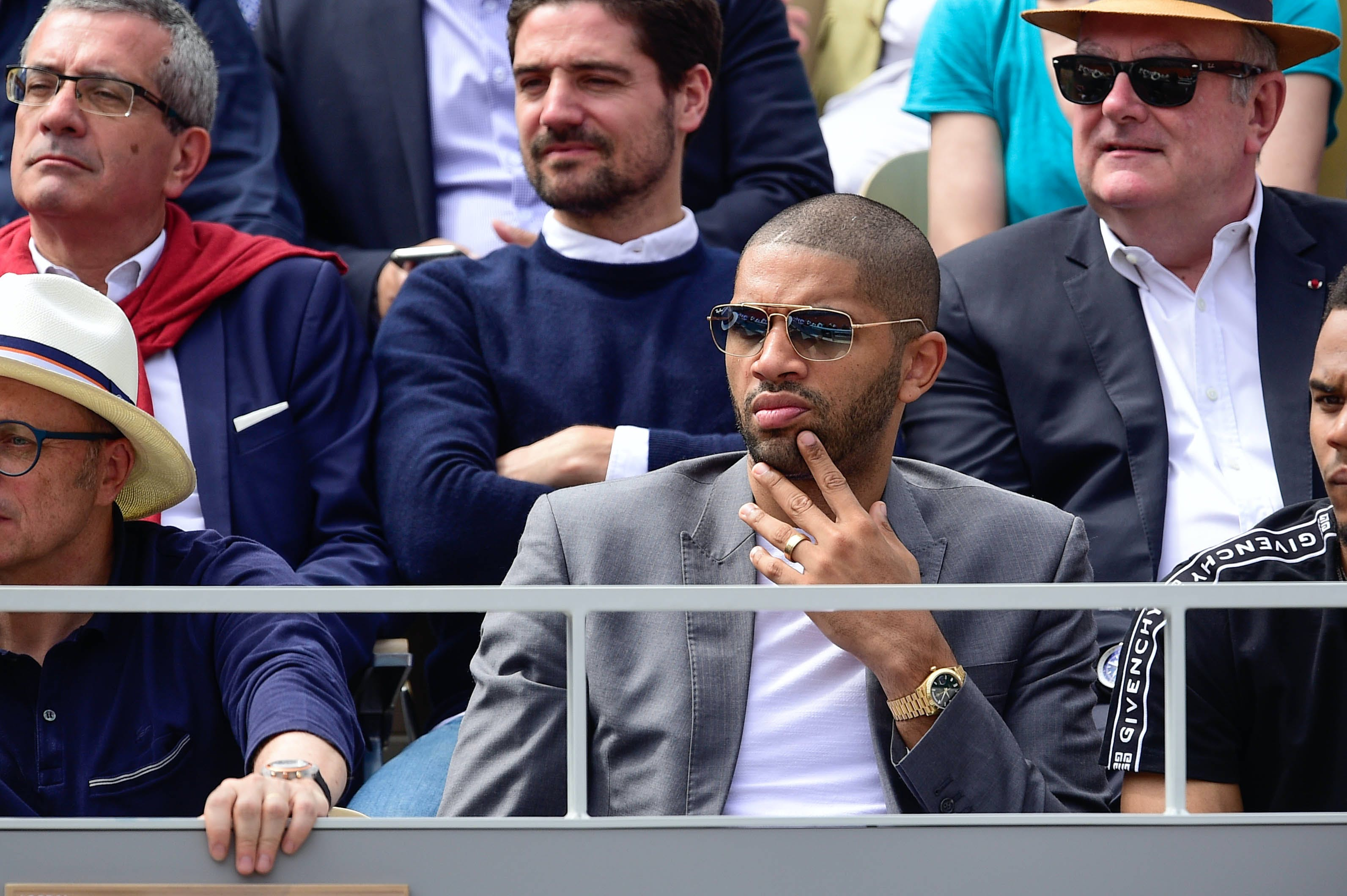 NBA player Nicolas Batum Roland-Garros 2019