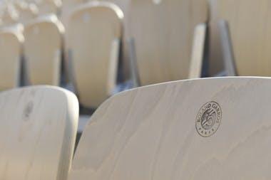 sièges Suzanne-Lenglen Roland-Garros 2018 seats.