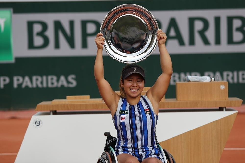 Yui Kamiji, Roland-Garros 2020, finale, trophée
