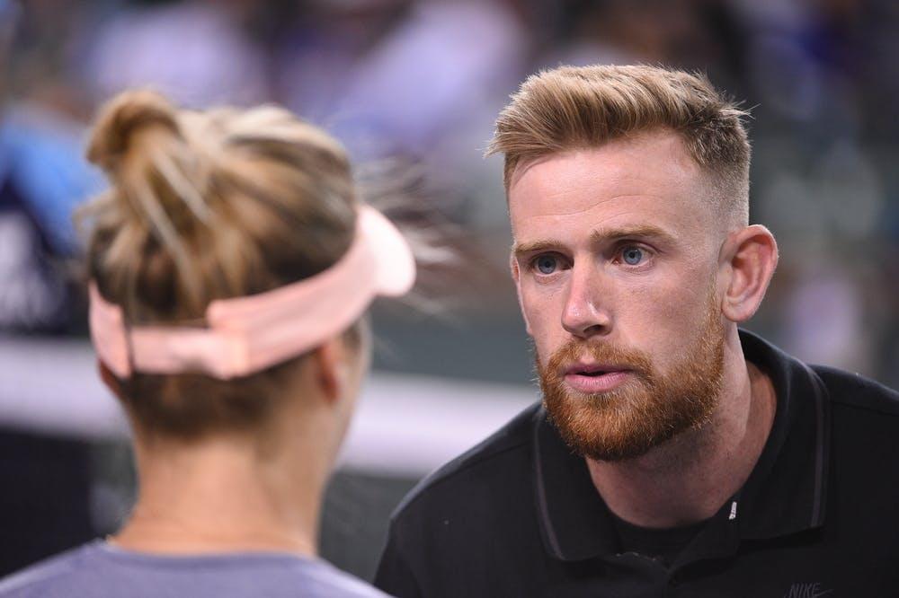 Andrew Bettles, coach of Elina Svitolina, Indian Wells 2019