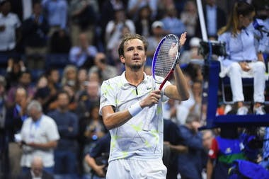 Daniil Medvedev after a win during the 2019 US Open