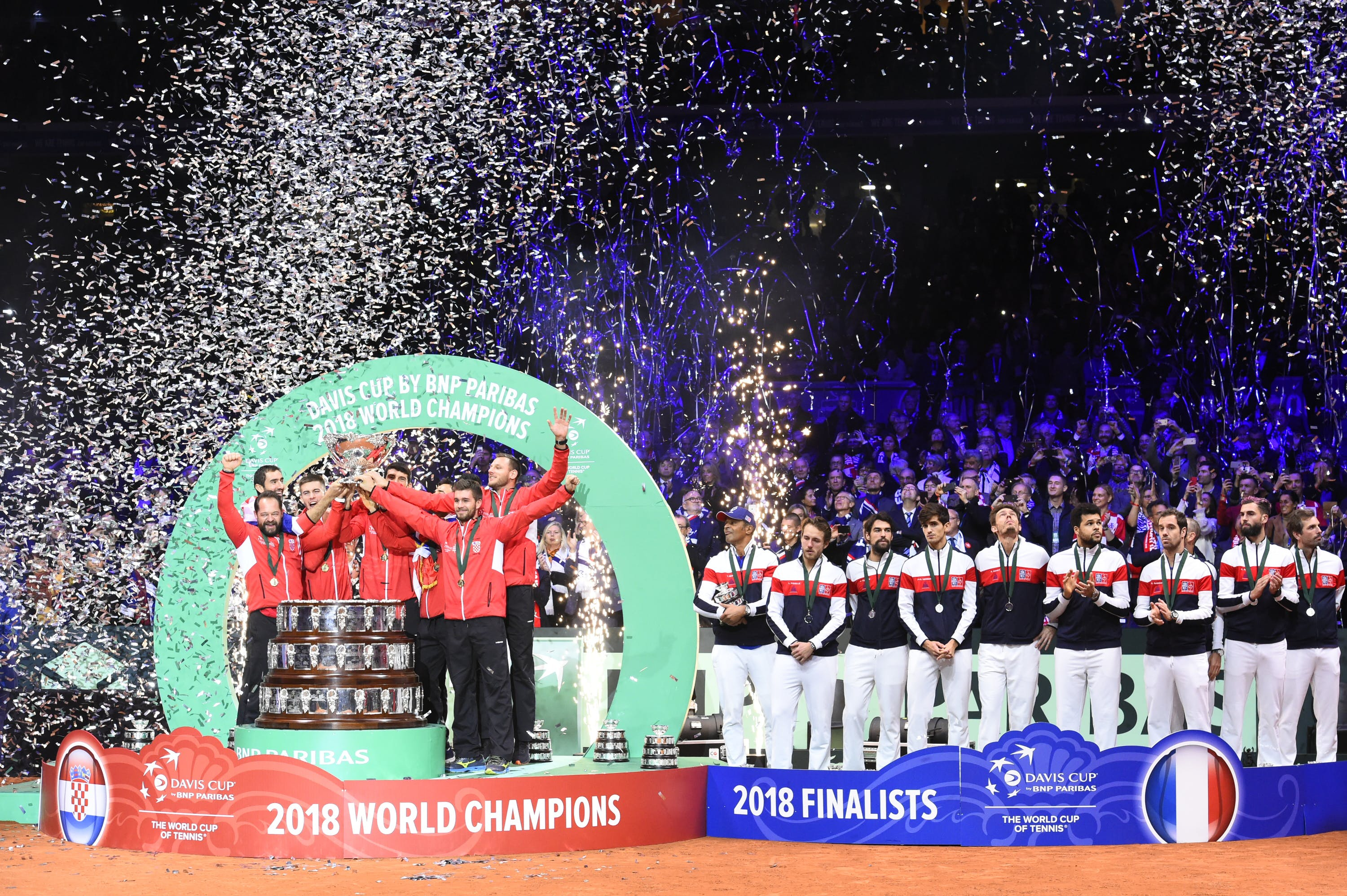 Croatia wins the 2018 Davis Cup final against France