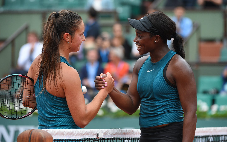 Daria Kasatkina et Sloane Stephens, Roland-Garros 2018