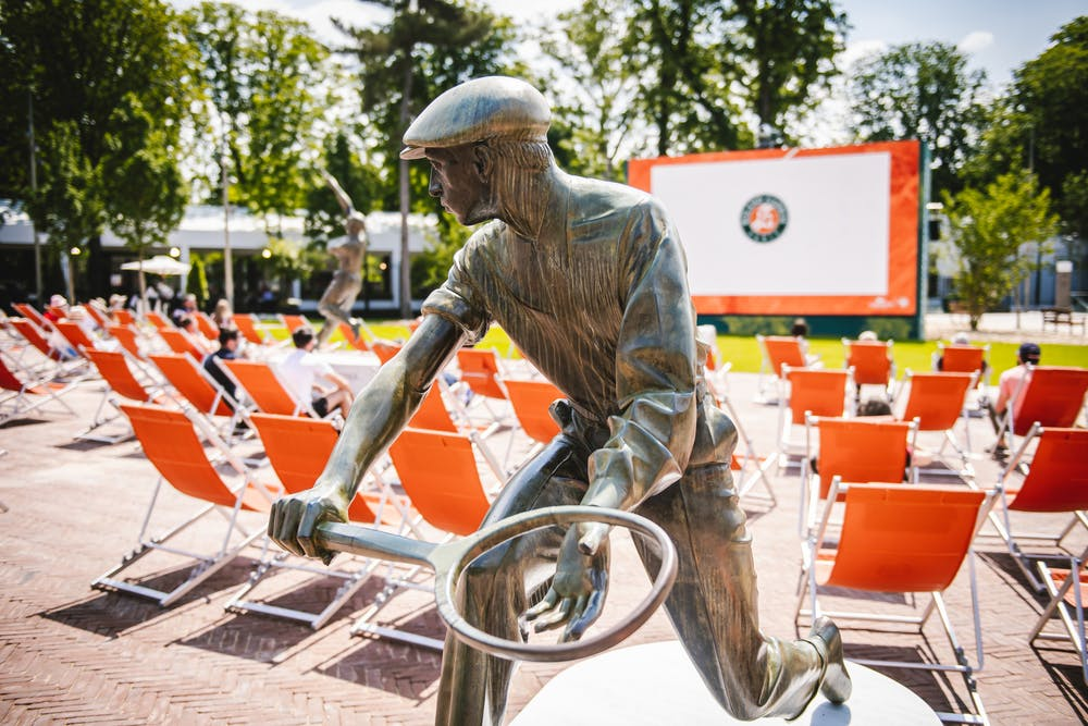 René Lacoste Statue Mousquetaires Roland-Garros